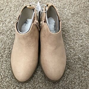 NWT Old Navy Beige Faux Suede Booties